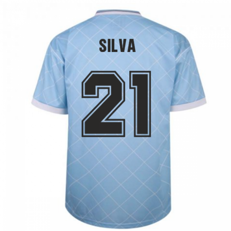 Manchester City 1988 Retro Football Shirt (SILVA 21)
