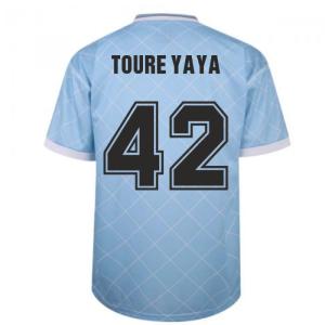 Manchester City 1988 Retro Football Shirt (TOURE YAYA 42)