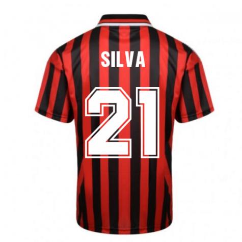 Manchester City 1994 Away Retro Shirt (SILVA 21)