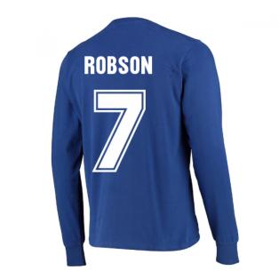 Manchester United 1968 European Cup Final Retro Football Shirt (ROBSON 7)