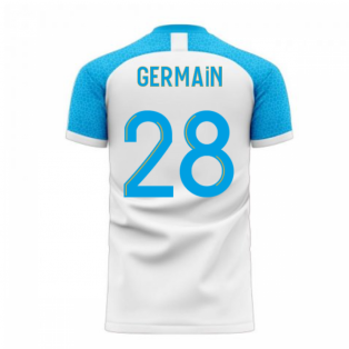 Marseille 2020-2021 Home Concept Football Kit (Libero) (GERMAIN 28)