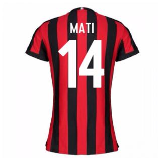 2017-2018 AC Milan Womens Home Shirt (Mati 14)