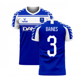 Merseyside 2020-2021 Home Concept Football Kit (Viper) (BAINES 3)