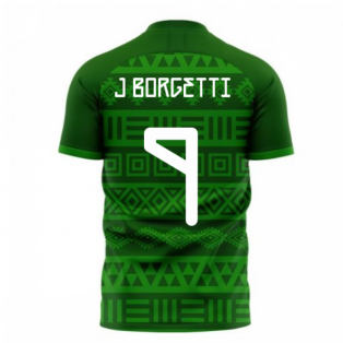Mexico 2020-2021 Home Concept Football Kit (Libero) (J. BORGETTI 9)
