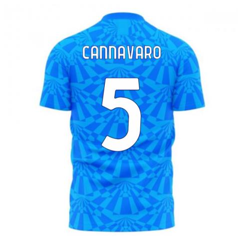 Napoli 1990s Home Concept Football Kit (Libero) (CANNAVARO 5)