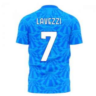 Napoli 1990s Home Concept Football Kit (Libero) (LAVEZZI 7)