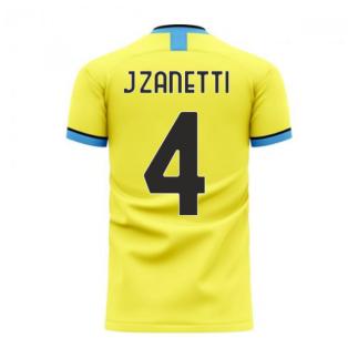 Nerazzurri Milan 2020-2021 Away Concept Football Kit (Libero) (J.ZANETTI 4)