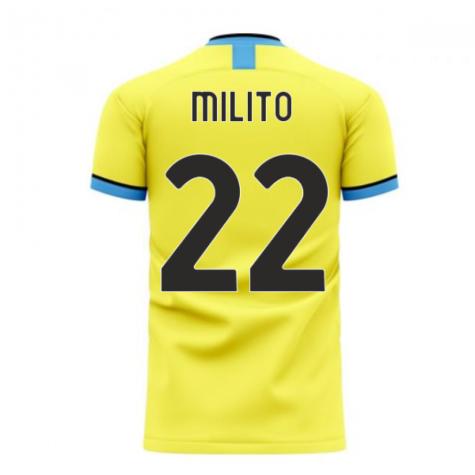 Nerazzurri Milan 2020-2021 Away Concept Football Kit (Libero) (MILITO 22)