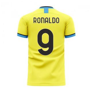 Nerazzurri Milan 2020-2021 Away Concept Football Kit (Libero) (RONALDO 9)