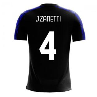 Nerazzurri Milan 2020-2021 Home Concept Football Kit (Libero) (J.ZANETTI 4)