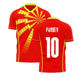 North Macedonia 2020-2021 Home Concept Shirt (Libero) (Pandev 10)