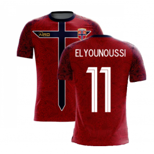 Norway 2020-2021 Home Concept Football Kit (Airo) (ELYOUNOUSSI 11)