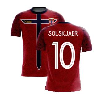 Norway 2020-2021 Home Concept Football Kit (Airo) (SOLSKJAER 10)