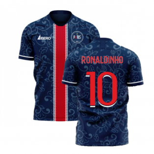 Paris 2020-2021 Home Concept Football Kit (Libero) (RONALDINHO 10)