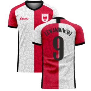 Poland 2020-2021 Away Concept Football Kit (Libero) (LEWANDOWSKI 9)