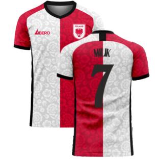 Poland 2020-2021 Away Concept Football Kit (Libero) (MILIK 7)