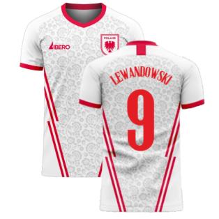 Poland 2020-2021 Home Concept Football Kit (Libero) (LEWANDOWSKI 9)