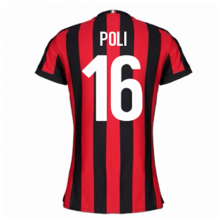 2017-2018 AC Milan Womens Home Shirt (Poli 16)