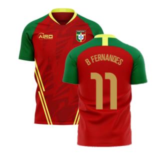 Portugal 2020-2021 Home Concept Football Kit (Airo) (B Fernandes 11)