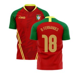 Portugal 2020-2021 Home Concept Football Kit (Airo) (B Fernandes 18)