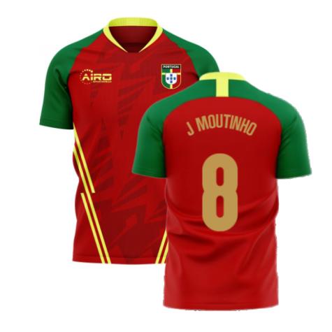 Portugal 2020-2021 Home Concept Football Kit (Airo) (J Moutinho 8)