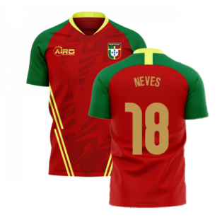 Portugal 2020-2021 Home Concept Football Kit (Airo) (Neves 18)