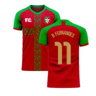 Portugal 2020-2021 Home Concept Football Kit (Fans Culture) (B Fernandes 11)