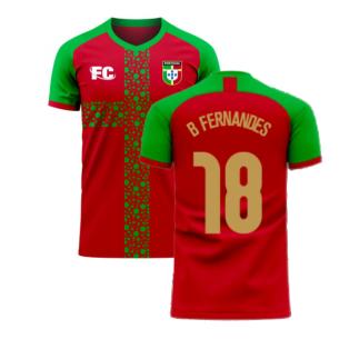 Portugal 2020-2021 Home Concept Football Kit (Fans Culture) (B Fernandes 18)