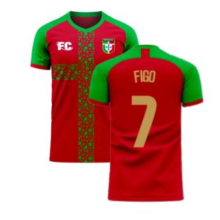 Portugal 2020-2021 Home Concept Football Kit (Fans Culture) (FIGO 7)