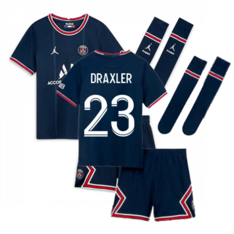 PSG 2021-2022 Little Boys Home Kit (DRAXLER 23)