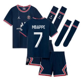 PSG 2021-2022 Little Boys Home Kit (MBAPPE 7)