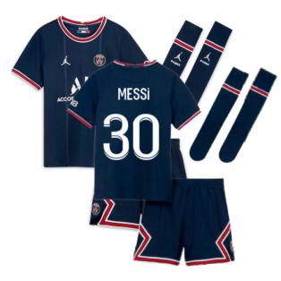 PSG 2021-2022 Little Boys Home Kit (MESSI 30)