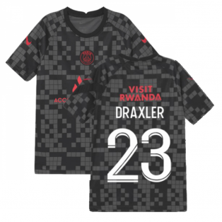 PSG 2021-2022 Pre-Match Training Shirt (Black) - Kids (DRAXLER 23)