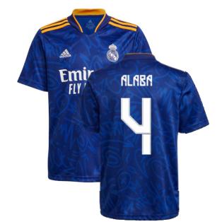 Real Madrid 2021-2022 Away Shirt (Kids) (ALABA 4)