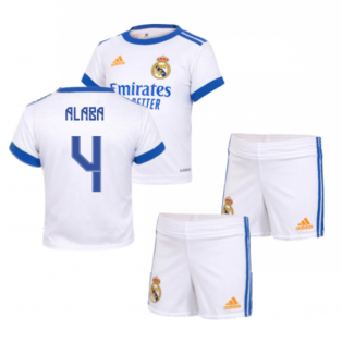 Real Madrid 2021-2022 Home Baby Kit (ALABA 4)