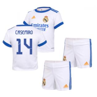 Real Madrid 2021-2022 Home Baby Kit (CASEMIRO 14)