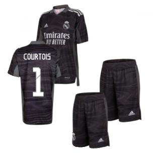Real Madrid 2021-2022 Home Goalkeeper Mini Kit (COURTOIS 1)