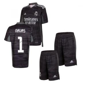 Real Madrid 2021-2022 Home Goalkeeper Mini Kit (NAVAS 1)