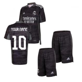 Real Madrid 2021-2022 Home Goalkeeper Mini Kit (Your Name)