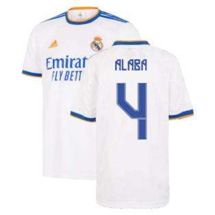 Real Madrid 2021-2022 Home Shirt (Kids) (ALABA 4)