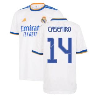 Real Madrid 2021-2022 Home Shirt (Kids) (CASEMIRO 14)