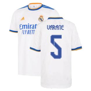 Real Madrid 2021-2022 Home Shirt (Kids) (VARANE 5)
