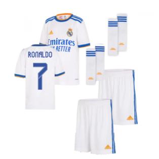 Real Madrid 2021-2022 Home Youth Kit (RONALDO 7)