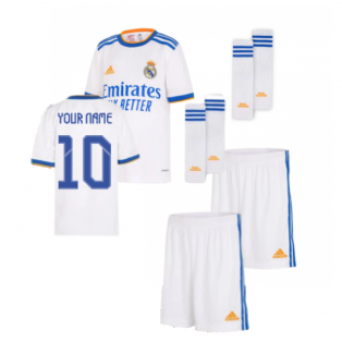 Real Madrid 2021-2022 Home Youth Kit (Your Name)