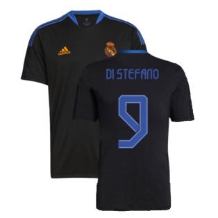 Real Madrid 2021-2022 Training Shirt (Black) (DI STEFANO 9)