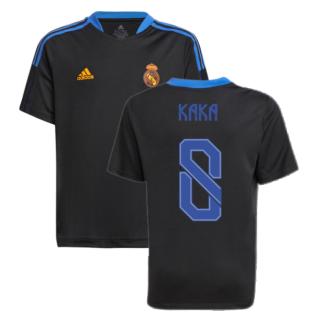 Real Madrid 2021-2022 Training Shirt (Black) - Kids (KAKA 8)
