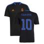 Real Madrid 2021-2022 Training Shirt (Black) (Your Name)