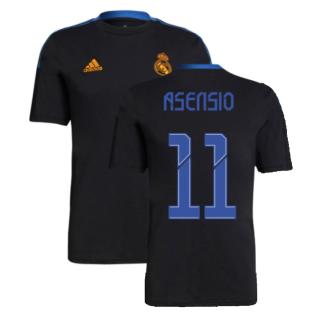 Real Madrid 2021-2022 Training Tee (Black) (ASENSIO 11)