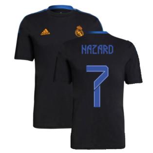 Real Madrid 2021-2022 Training Tee (Black) (HAZARD 7)