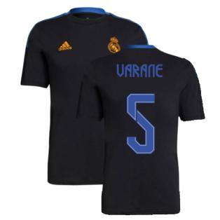 Real Madrid 2021-2022 Training Tee (Black) (VARANE 5)